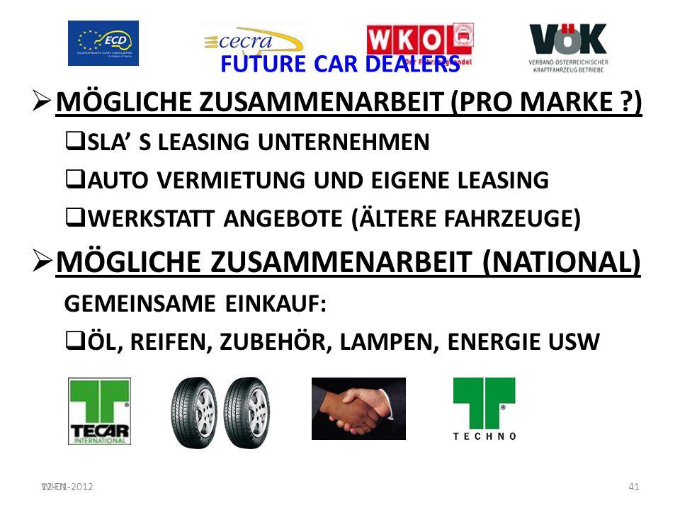 FUTURE CAR DEALERS MÖGLICHE ZUSAMMENARBEIT (PRO MARKE ?) SLA S LEASING UNTERNEHMEN AUTO VERMIETUNG UND EIGENE LEASING WERKSTATT ANGEBOTE (ÄLTERE FAHRZ