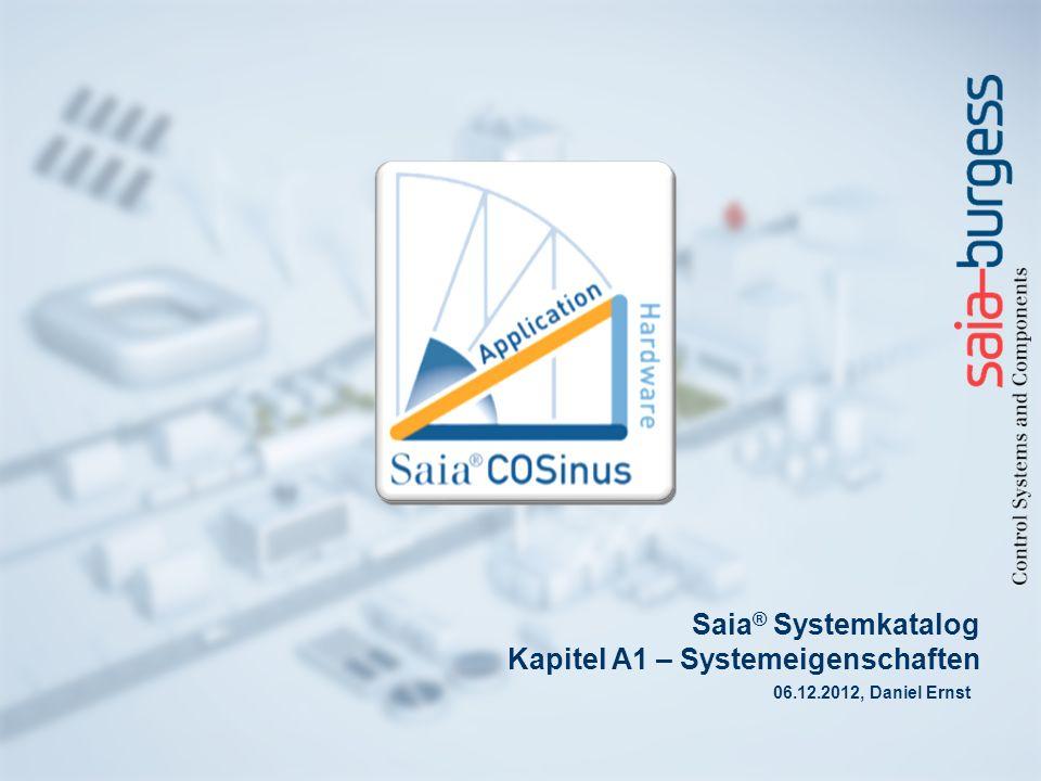 2 Saia ® PCD Systembeschreibung Saia® PCDs kombinieren SPS-Funkionalität mit innovativer Web- und IT-Technik.