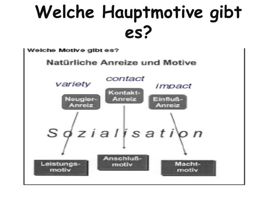 Welche Hauptmotive gibt es?