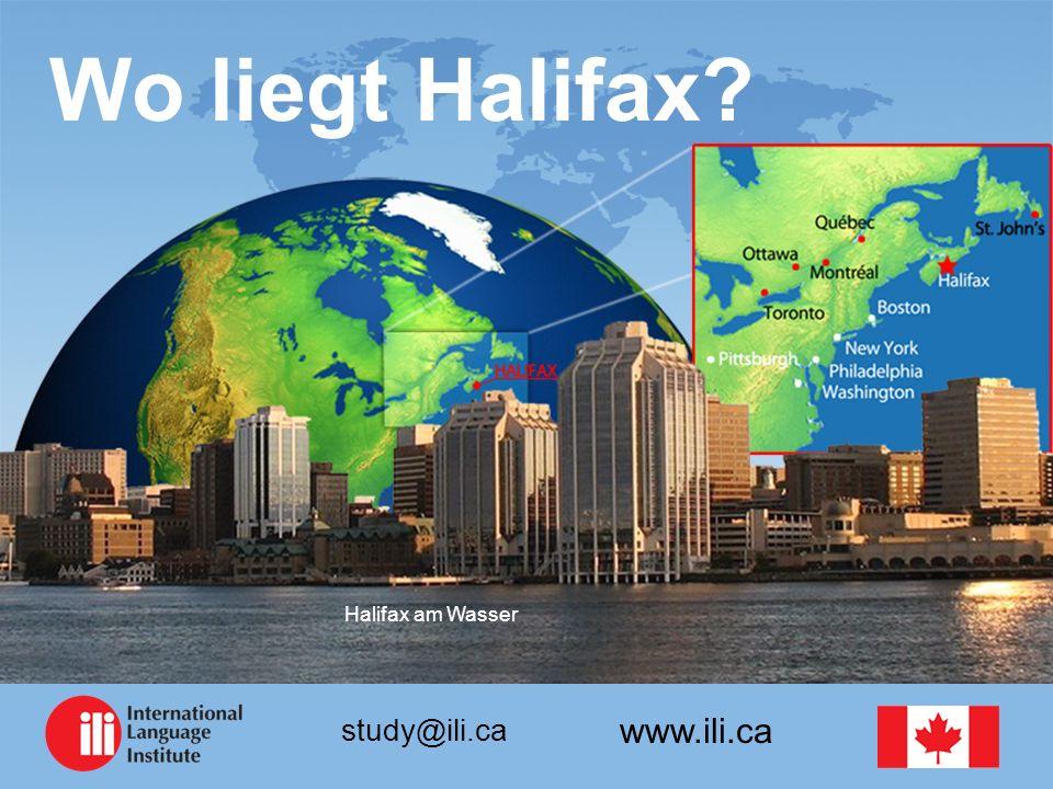 www.ili.ca study@ili.ca Wo liegt Halifax? Halifax am Wasser