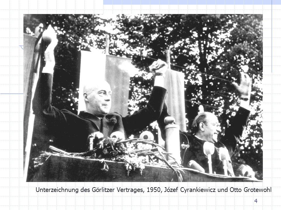 4 Unterzeichnung des Görlitzer Vertrages, 1950, Józef Cyrankiewicz und Otto Grotewohl