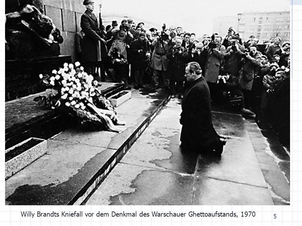 5 Willy Brandts Kniefall vor dem Denkmal des Warschauer Ghettoaufstands, 1970