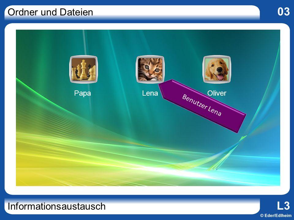Ordner und Dateien 03 Informationsaustausch L3 PapaLenaOliver Benutzer Lena