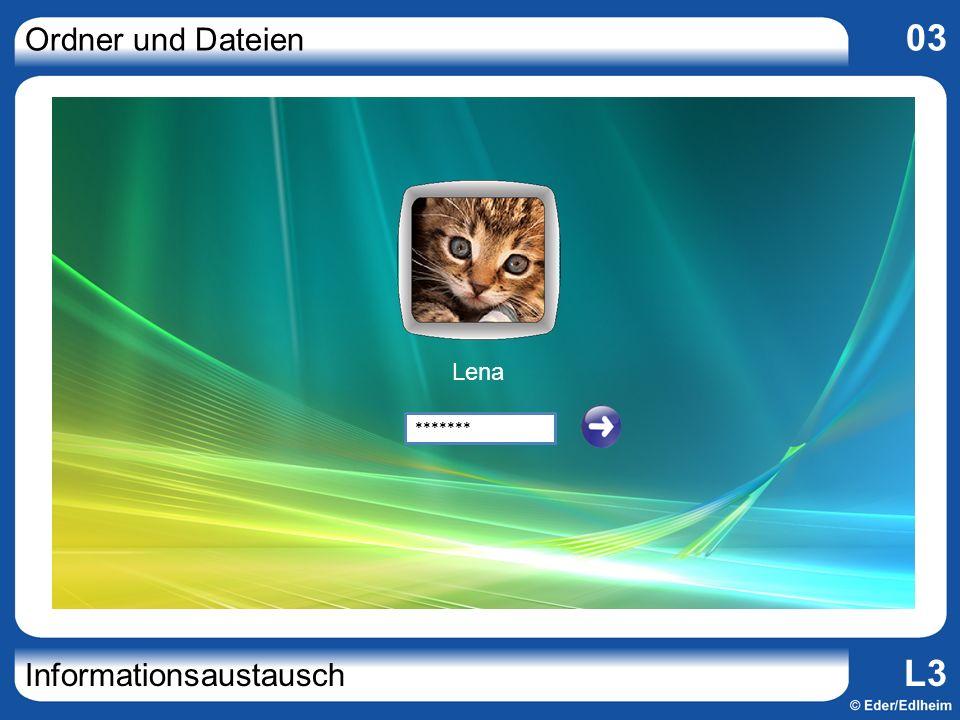 Ordner und Dateien 03 Informationsaustausch L3 Computer (Arbeitsplatz)