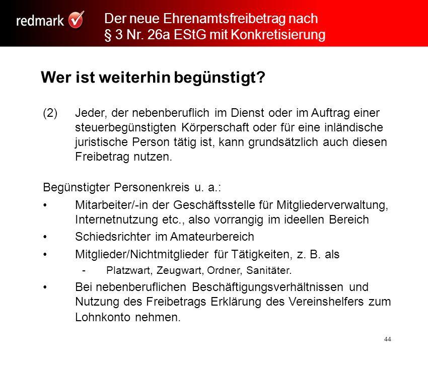 Rechtsanwalt Prof.Gerhard Geckle, Freiburg44 Wer ist weiterhin begünstigt.