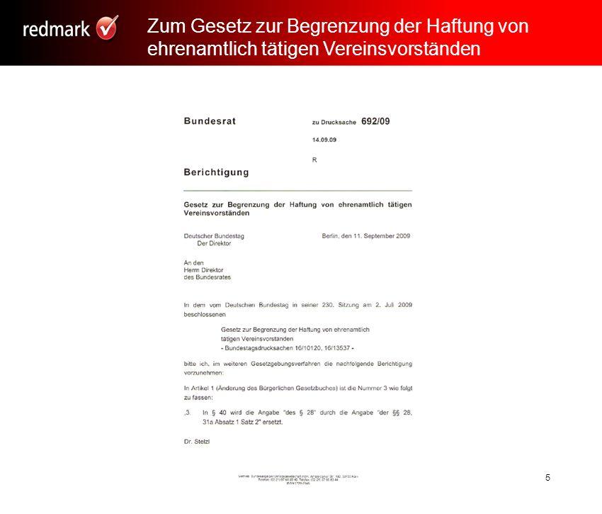 Rechtsanwalt Prof. Gerhard Geckle, Freiburg6 Gesetzliche Grundlagen 6