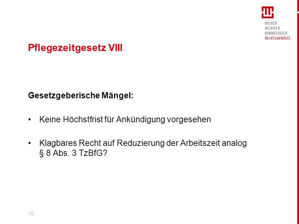 19 Whistleblowing geplant: Anzeigerecht des AN in neuem § 612a BGB bisher nur Rechtsprechung des BAG aktuell:Aufgabe des Gesetzesvorhabens jedenfalls in dieser Legislaturperiode (Widerstand CDU/CSU) (Stand: Ende Januar 2009)