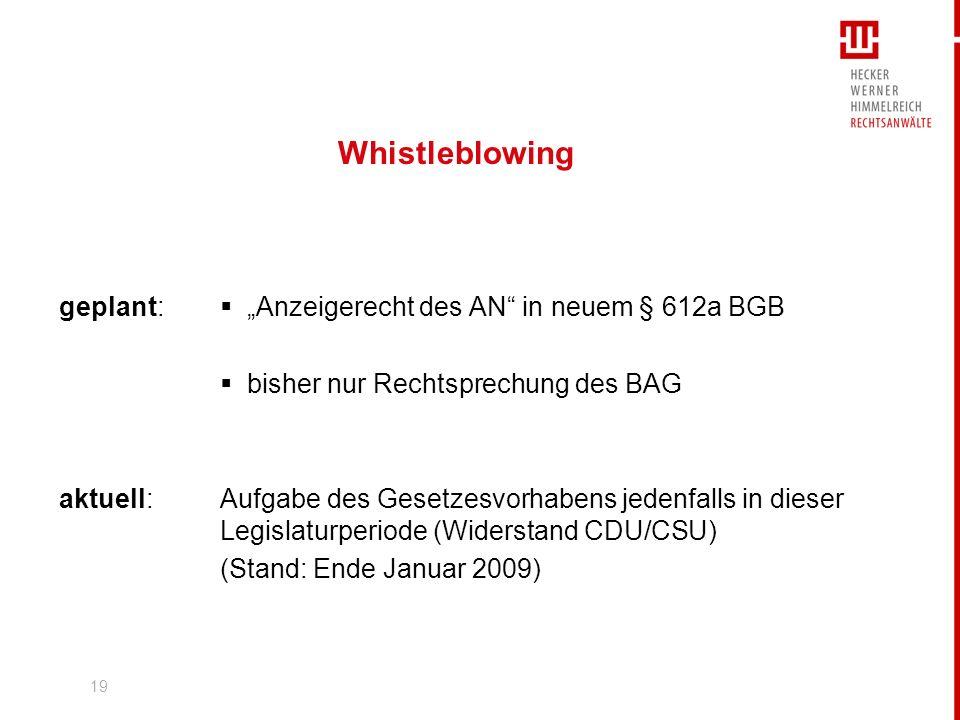 20 BAG aktuell Urteil vom 14.Januar 2009: Pressemitteilung Nr.