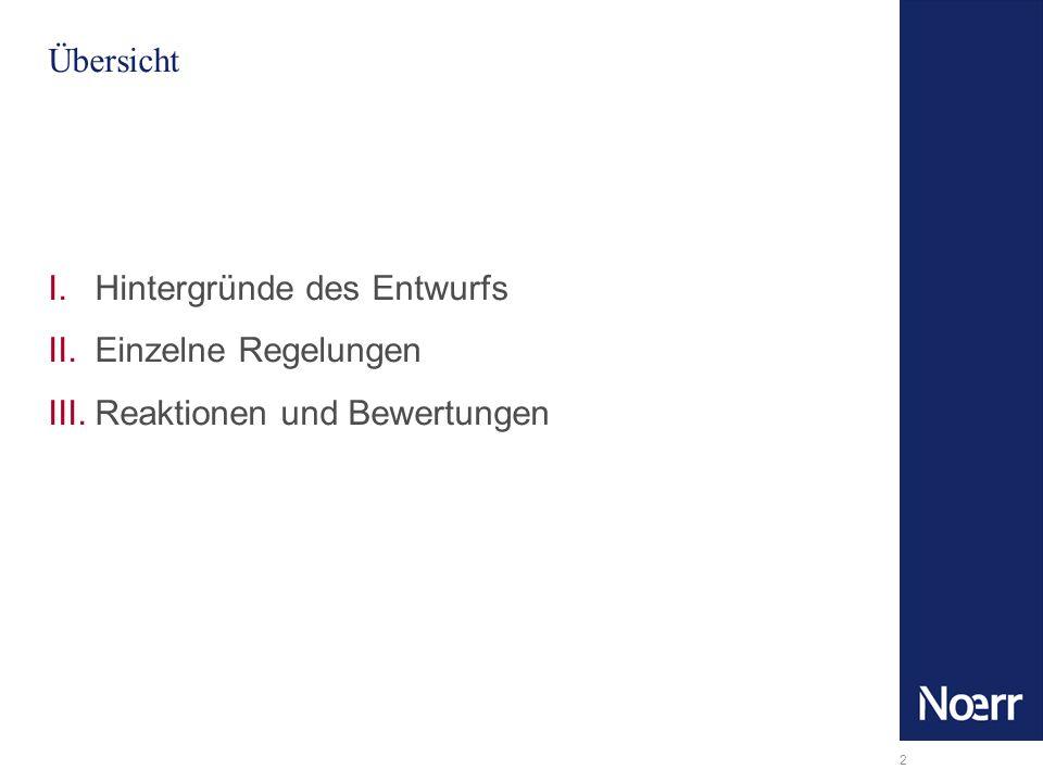3 Hintergründe – EG-Richtlinie und Ziele des Referentenentwurfs Vorgaben der EG-Richtlinie vom 13.