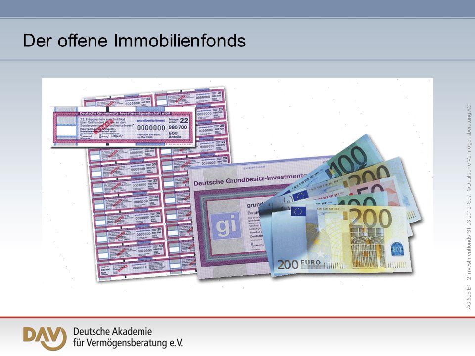 AG 528 B1 2 Investmentfonds 31.03.2012 S. 7 © Deutsche Vermögensberatung AG Der offene Immobilienfonds