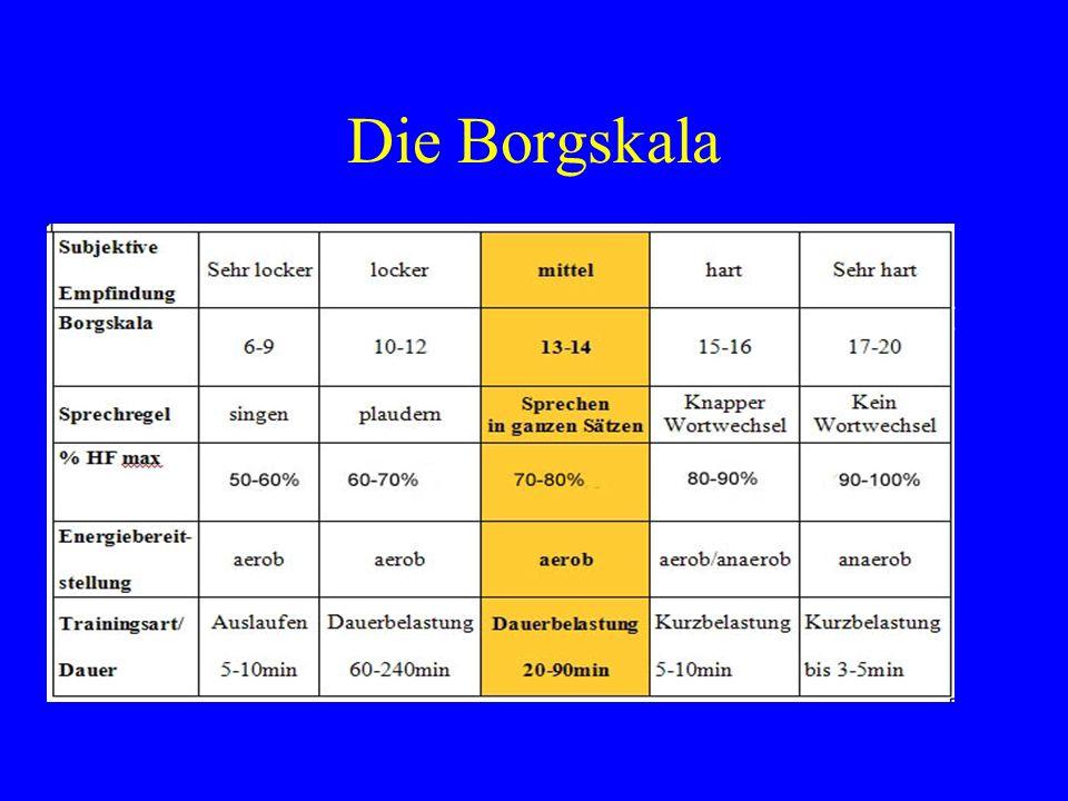 Die Borgskala Wahrnehmung der Belastung