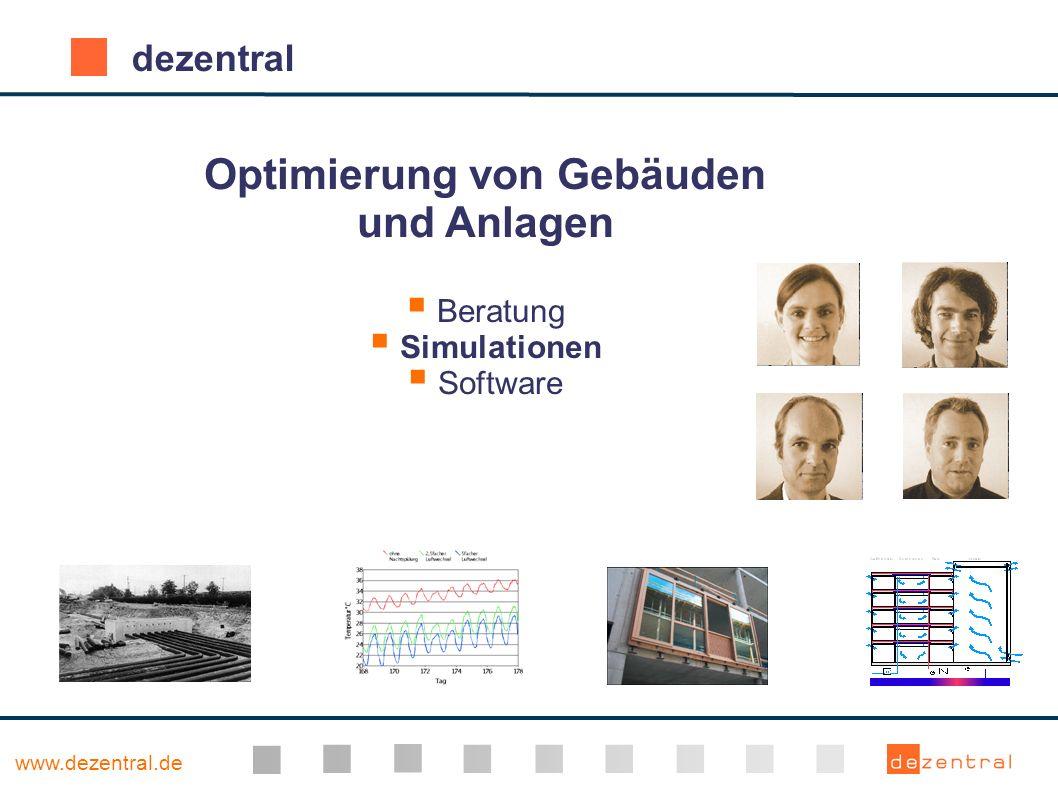 www.dezentral.de dezentral Optimierung von Gebäuden und Anlagen Beratung Simulationen Software