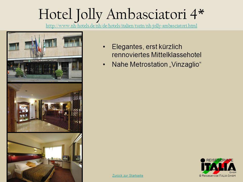 Elegantes, erst kürzlich rennoviertes Mittelklassehotel Nahe Metrostation Vinzaglio Hotel Jolly Ambasciatori 4* http://www.nh-hotels.de/nh/de/hotels/i