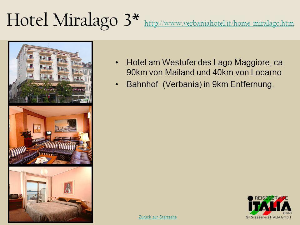 Hotel am Westufer des Lago Maggiore, ca. 90km von Mailand und 40km von Locarno Bahnhof (Verbania) in 9km Entfernung. Hotel Miralago 3* http://www.verb