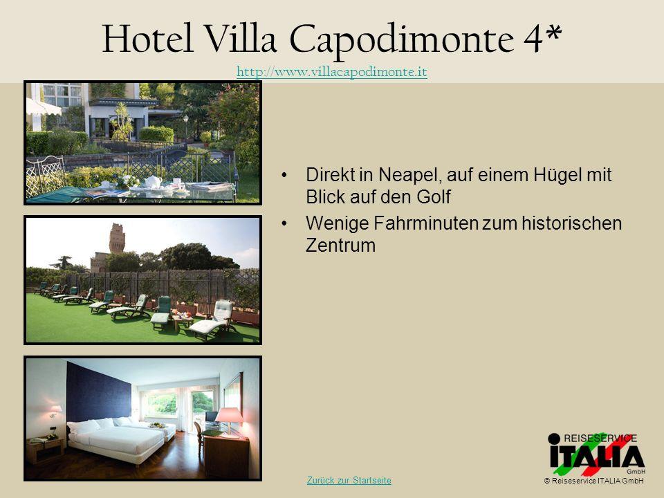 Direkt in Neapel, auf einem Hügel mit Blick auf den Golf Wenige Fahrminuten zum historischen Zentrum Hotel Villa Capodimonte 4* http://www.villacapodi