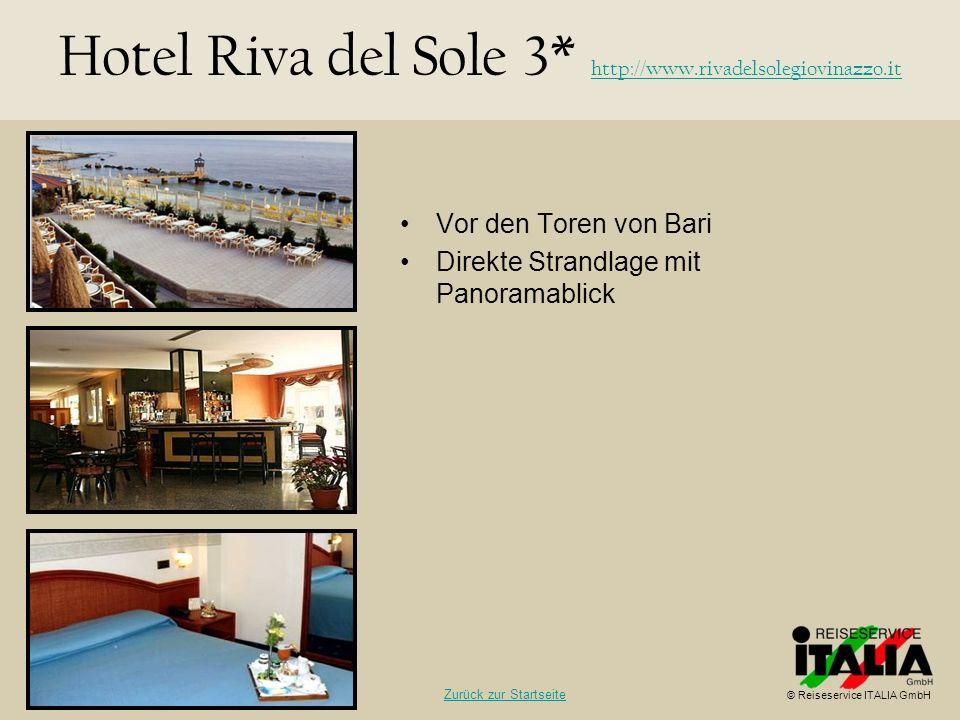 Vor den Toren von Bari Direkte Strandlage mit Panoramablick Hotel Riva del Sole 3* http://www.rivadelsolegiovinazzo.it http://www.rivadelsolegiovinazz