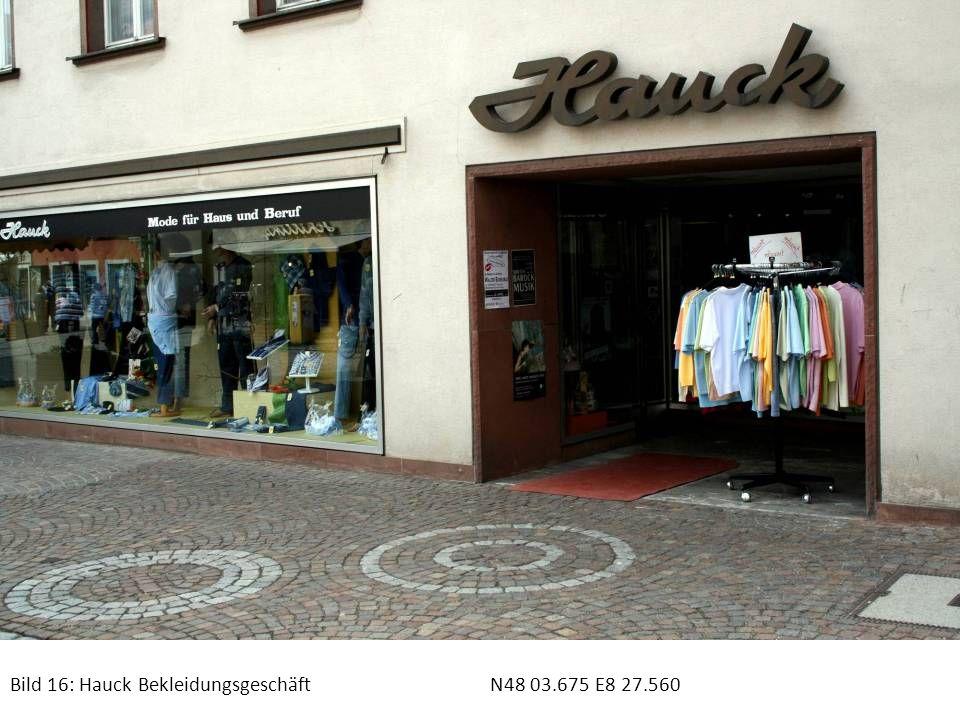Bild 16: Hauck BekleidungsgeschäftN48 03.675 E8 27.560