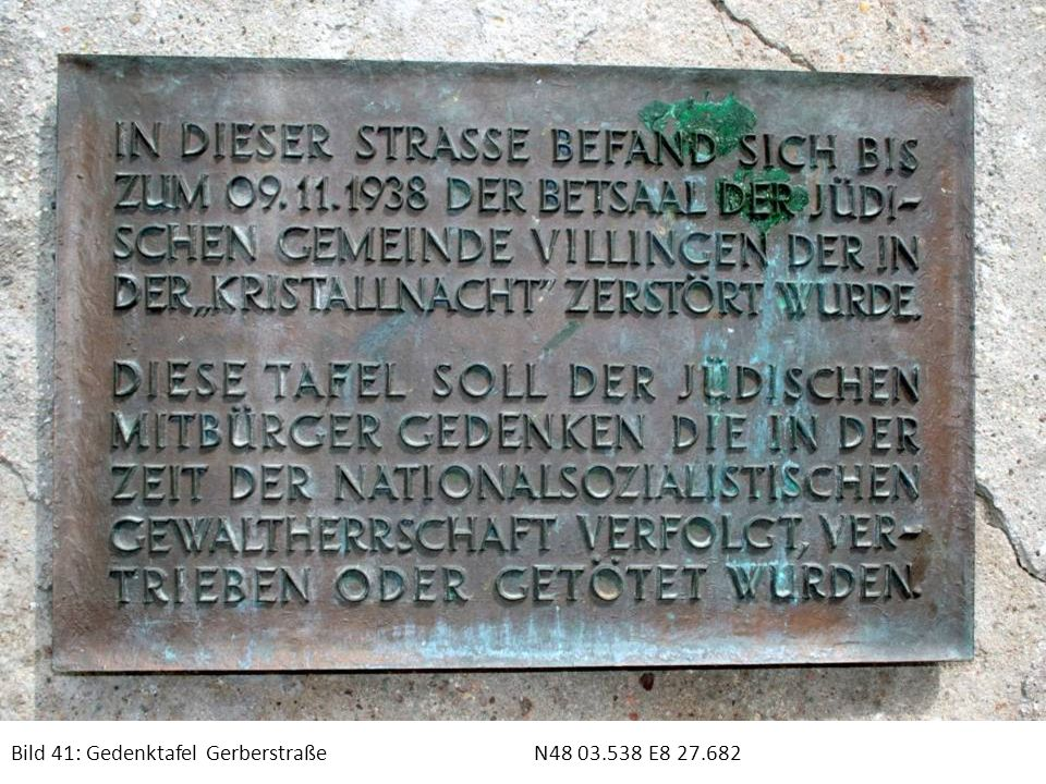 Bild 41: Gedenktafel GerberstraßeN48 03.538 E8 27.682