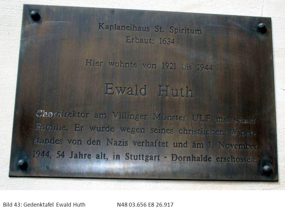 Bild 43: Gedenktafel Ewald HuthN48 03.656 E8 26.917