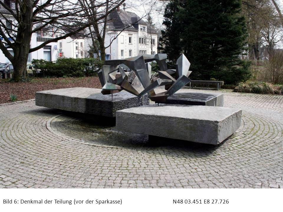 Bild 7: Denkmal der Teilung (Gedenkplatte)N48 03.451 E8 27.726