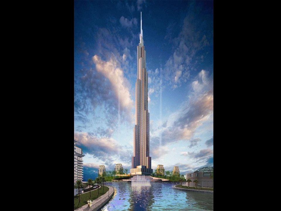 The Burj Dubai Der Bau wurde 2005 begonnen und sollte in diesem Jahr fertiggestellt werden. Mit seiner errechneten Höhe von mehr als 800 Metern wird e