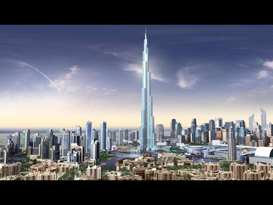 So wird sich das Stadtzentrum von Dubai in den nächsten Monaten präsentieren. Bereits sind über 140 Stockwerke des Burj Dubai gebaut.