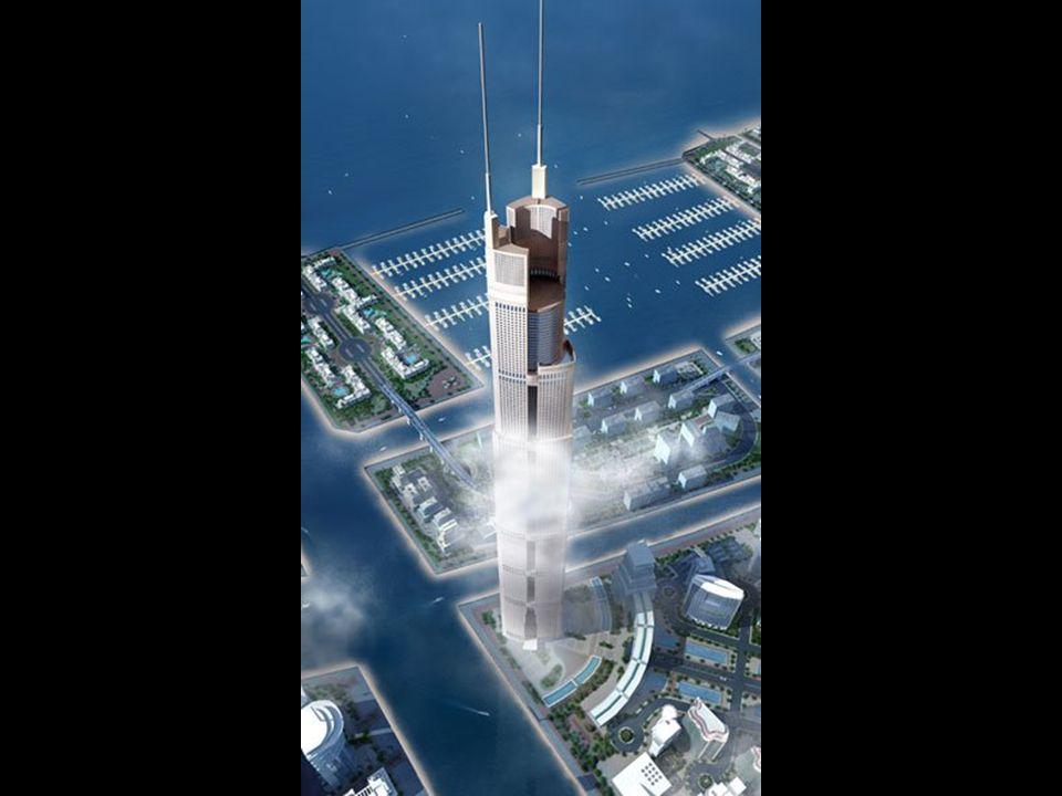 Kürzlich wurde dieses Gebäude angekündigt, dessen Turm eine Höhe von 1200 Metern haben wird Damit wäre er 30% höher als das Burj Dubai und drei mal so