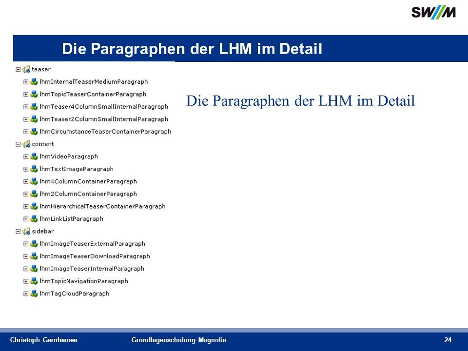 Christoph GernhäuserGrundlagenschulung Magnolia24 Die Paragraphen der LHM im Detail