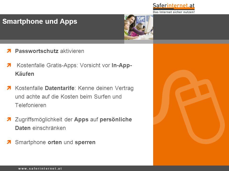 Passwortschutz aktivieren Kostenfalle Gratis-Apps: Vorsicht vor In-App- Käufen Kostenfalle Datentarife: Kenne deinen Vertrag und achte auf die Kosten