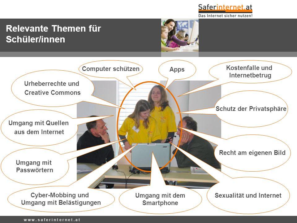 w w w. s a f e r i n t e r n e t. a t www.ombudsmann.at Internet Ombudsmann & Watchlist Internet