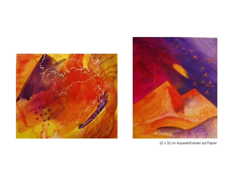 22 x 32 cm Aquarell/Kreiden auf Papier