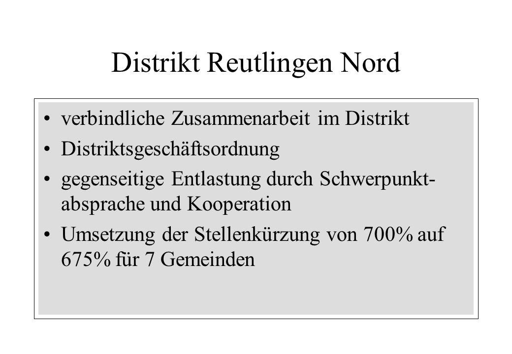 verbindliche Zusammenarbeit im Distrikt Distriktsgeschäftsordnung gegenseitige Entlastung durch Schwerpunkt- absprache und Kooperation Umsetzung der S