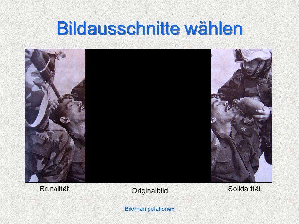 Bildmanipulationen Bildausschnitte wählen Originalbild BrutalitätSolidarität