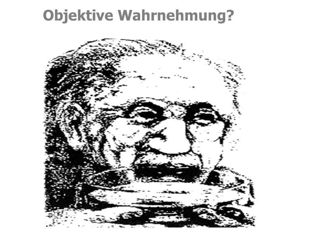Objektive Wahrnehmung?