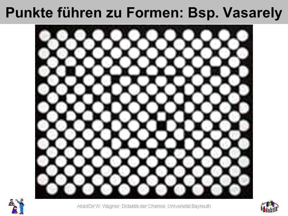 Punkte führen zu Formen: Bsp. Vasarely AkadDir W. Wagner. Didaktik der Chemie, Universität Bayreuth