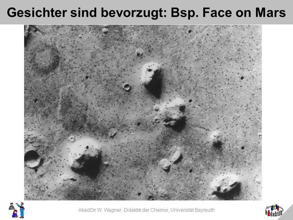 Gesichter sind bevorzugt: Bsp. Face on Mars AkadDir W. Wagner. Didaktik der Chemie, Universität Bayreuth
