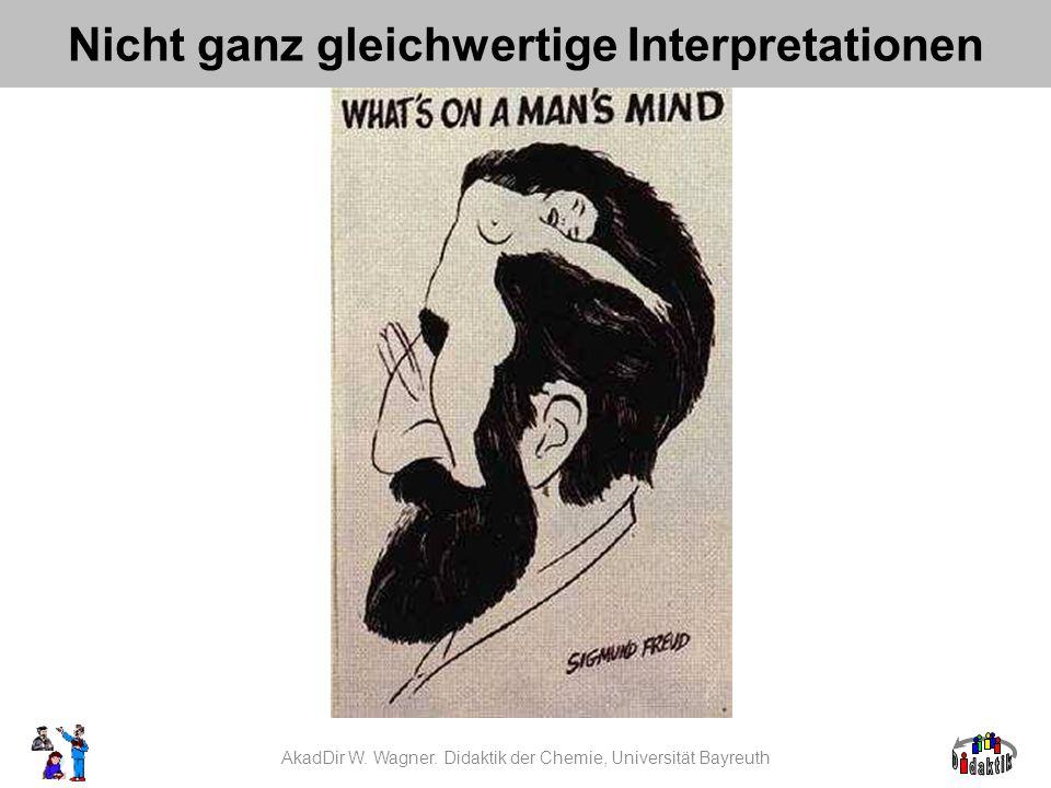 AkadDir W. Wagner. Didaktik der Chemie, Universität Bayreuth Nicht ganz gleichwertige Interpretationen