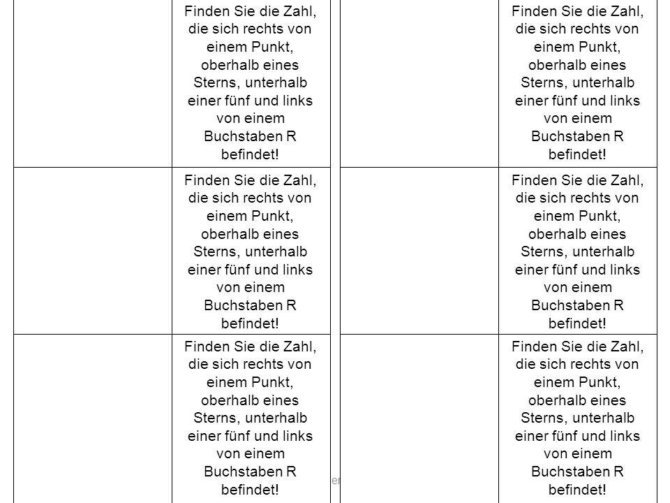 AkadDir W. Wagner. Didaktik der Chemie, Universität Bayreuth Finden Sie die Zahl, die sich rechts von einem Punkt, oberhalb eines Sterns, unterhalb ei