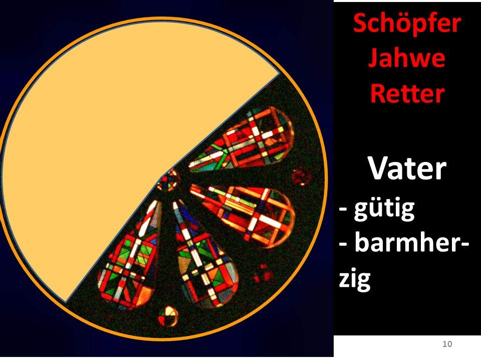 10 Schöpfer Jahwe Retter Vater - gütig - barmher- zig