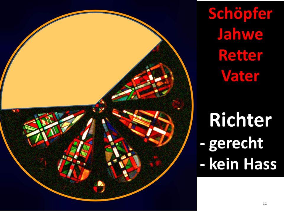 11 Schöpfer Jahwe Retter Vater Richter - gerecht - kein Hass