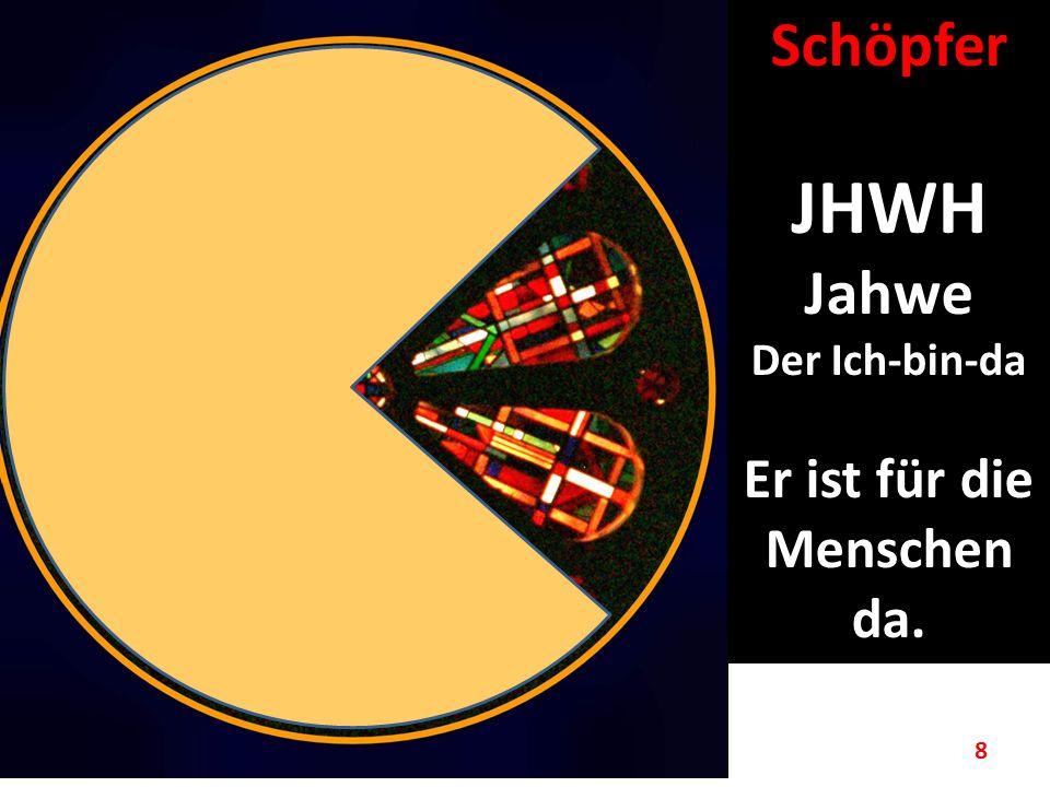 8 Schöpfer JHWH Jahwe Der Ich-bin-da Er ist für die Menschen da.