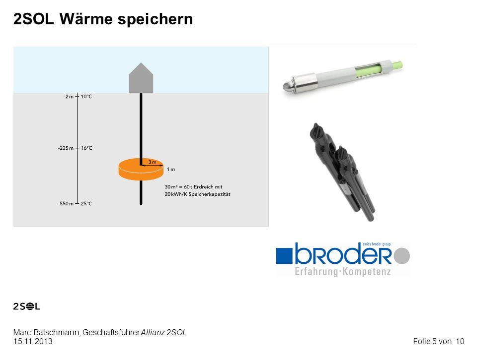 10 Marc Bätschmann, Geschäftsführer Allianz 2SOL 15.11.2013Folie 6 von 2SOL Wärme transformieren