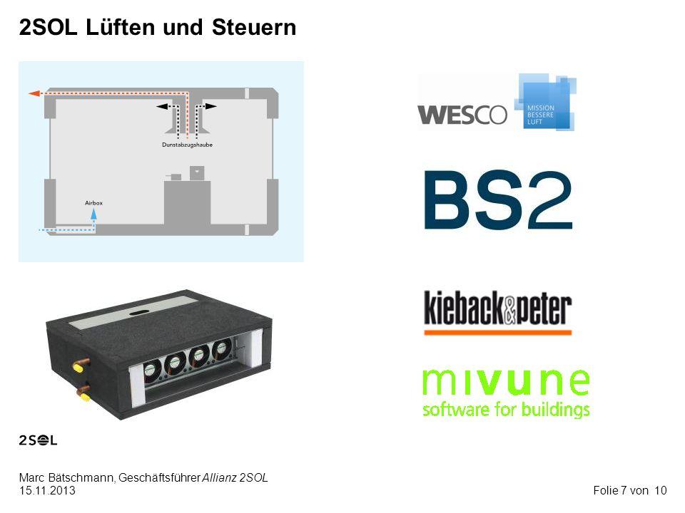 10 Marc Bätschmann, Geschäftsführer Allianz 2SOL 15.11.2013 2SOL Lüften und Steuern Folie 7 von