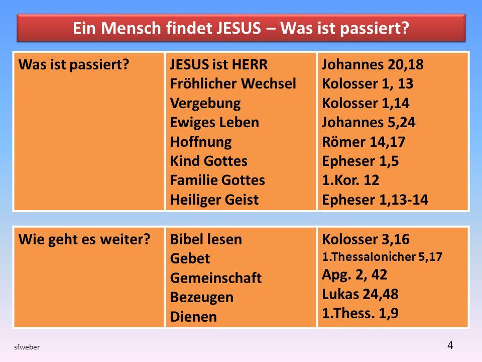 sfweber 4 Ein Mensch findet JESUS – Was ist passiert.
