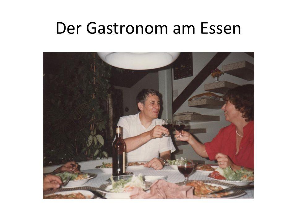 Der Gastronom am Essen