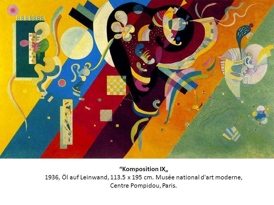 Komposition IX 1936, Öl auf Leinwand, 113.5 x 195 cm. Musée national d'art moderne, Centre Pompidou, Paris.