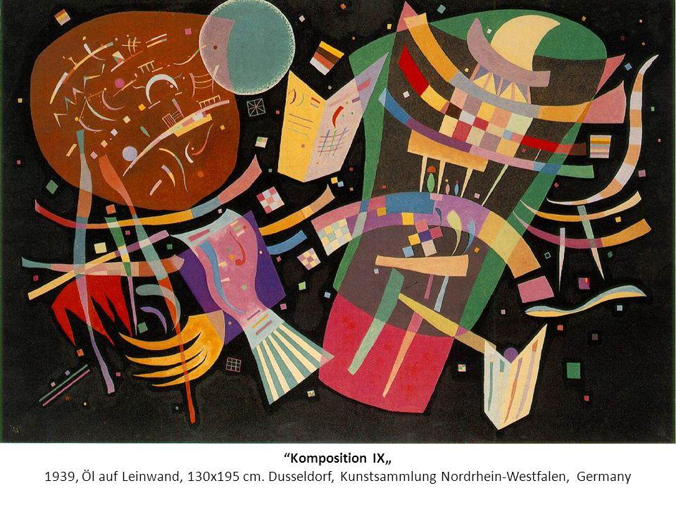 Komposition IX 1939, Öl auf Leinwand, 130х195 cm. Dusseldorf, Kunstsammlung Nordrhein-Westfalen, Germany