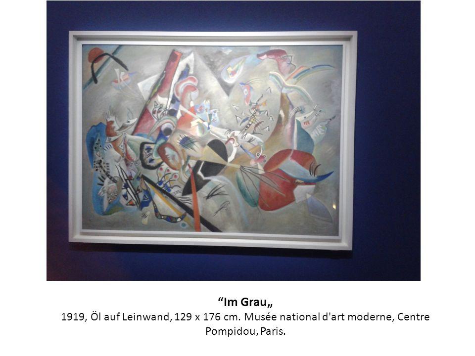 Im Grau 1919, Öl auf Leinwand, 129 x 176 cm. Musée national d'art moderne, Centre Pompidou, Paris.