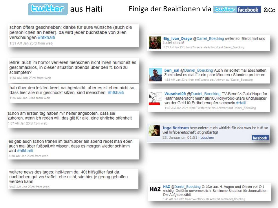 Einige der Reaktionen via aus Haiti &Co