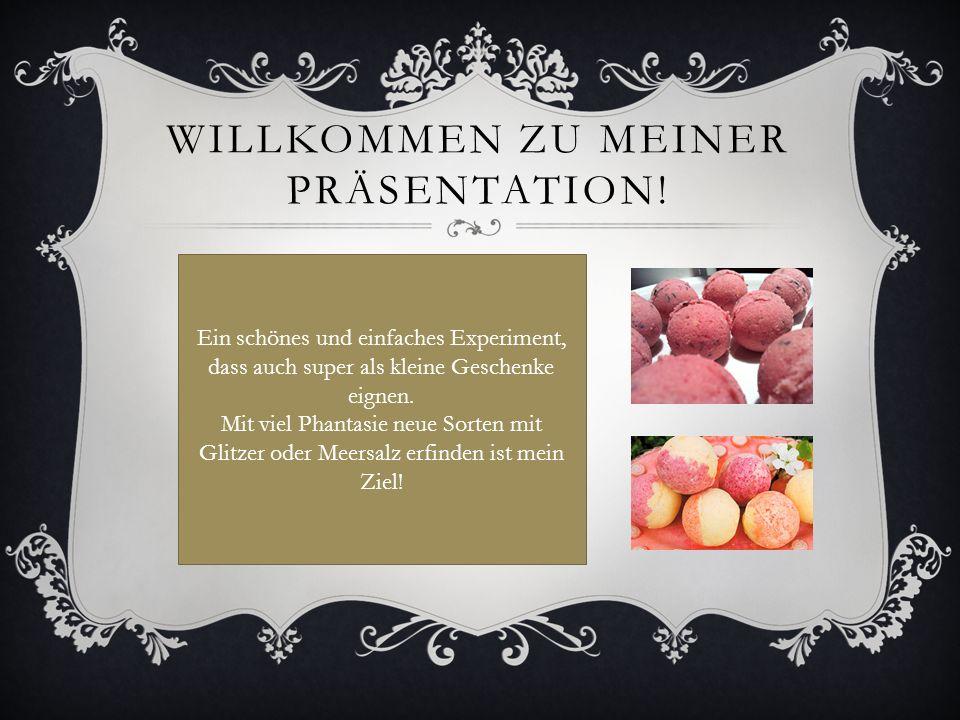 WILLKOMMEN ZU MEINER PRÄSENTATION.